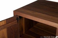Beautifully detailed Walnut cupboard made at Norfolk Oak.