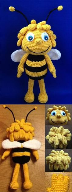 Bee Maya Amigurumi #amigurumi #amigurumipattern #tutorial #crochet #crocheting