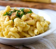 This macaroni and cheese actually cooks in milk.