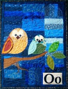 Quilted Owl Wall Hanging | FaveQuilts.com with pattern