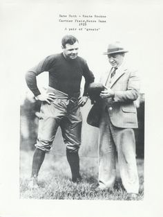 Babe Ruth and Knute Rockne Nd Football, Notre Dame Football, Football Players, College Football, Football Quotes, Baseball, Irish Fans, Go Irish, Alma Mater