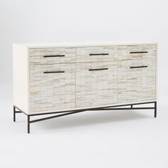 """Wood Tiled Media Console 
