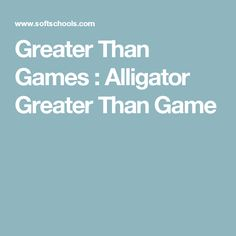 Greater Than Games : Alligator Greater Than Game