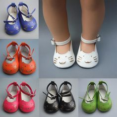 Girl Gift 18 Inch 45cm American Girl doll 7cm Doll Shoes Mini Leather Shoes For Baby Reborn Doll