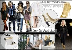 Shoe Day Wednesday: 8 Chic Ankle Boots - http://africanluxurymag.com/shoe-day-wednesday-8-chic-ankle-boots/
