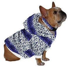 French Bulldog Hoodie Sweatshirt - Purple Leopard