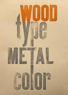 wood type metal color