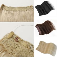 Hidden Halo Invisible Wire Flip In Weft 100% Remy Human Hair Extension Full Head #Unbranded #HairExtension