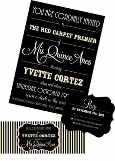 Invitation . Old Hollywood Collection . by Loralee Lewis. $39.00, via Etsy.