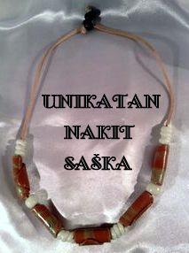 """Cold porcelain by Saska Necklace """"WHITE TWISTER"""" - š. og116"""