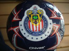 CLUB CHIVAS DEL GUADALAJARA OFFICIAL SOCCER BALL by Rhinox. $34.99. THIS IS A VERY SHARP LOOKING CHIVAS SOCCER BALL. SIZE # 5 WITH THE TRADITIONAL CHIVAS LOGO...IT IS APPROVED BY THE FMF, FEDERACION MEXICANA DE FUTBOL. THIS CHIVAS SOCCER BALL DISIGN CAN CHANGE IF THIS ONE EXACTLY IS NOT AVAILABLE