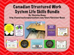 This bundle combines 11 life-skills products offered at a reduced price to provide all the basics for starting using TEACCH structured work systems for students with autism and other special needs working on functional sight words, money skills, and next dollar skills. $26