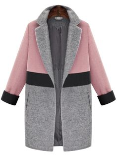 Shop Pink Grey Lapel Pockets Woolen Coat online. SheIn offers Pink Grey Lapel Pockets Woolen Coat & more to fit your fashionable needs.