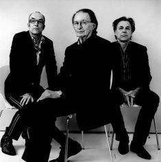 Dutch writers. Bart Chabot, Remco Campert, Jan Mulder by Anton Corbijn