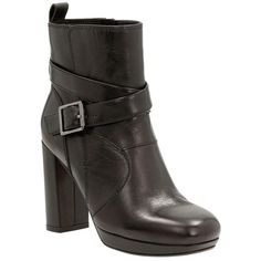 Women's Clarks 'Gabriel Mix' Moto Boot ($130) ❤ liked on Polyvore featuring shoes, boots, black leather, moto boots, short boots, clarks boots, leather boots and leather ankle boots