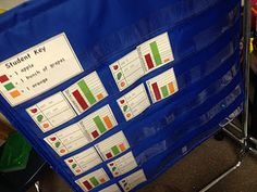 Graphing and Tally Table Pocket Chart Center or math tub Classroom Charts, Math Classroom, Classroom Ideas, Future Classroom, Teaching Math, Teaching Resources, Kindergarten Math, Maths, Teaching Ideas