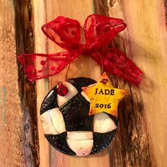 Personalizable US Soccer / Team / Football Clay Ornament