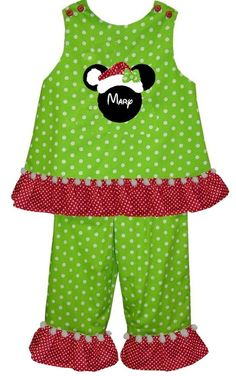 Custom Christmas Santa Minnie Mouse Dress or by ChildrensCottage, $52.00