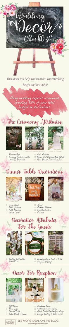 Top 5 Wedding Decor Trends For 2018 Brides   Wedding Forward   wedding decorations checklist #weddingdecoration