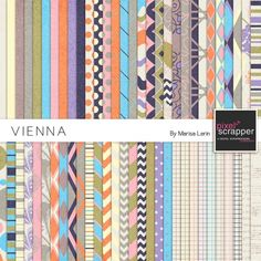 Vienna Papers Kit by Marisa Lerin | Pixel Scrapper digital scrapbooking