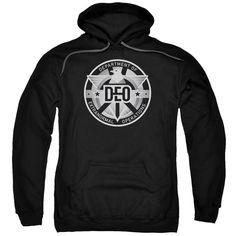Supergirl Deo Black Hooded Sweatshirt