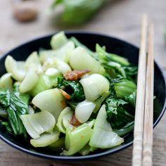Pork Stir Fry with Black Bean Sauce | China Sichuan Food Bok Choy Recipes, Arugula Recipes, Vegetable Dishes, Vegetable Recipes, Veggie Food, Stir Fry Recipes, Cooking Recipes, Cooking Tips, Bok Choy Stir Fry