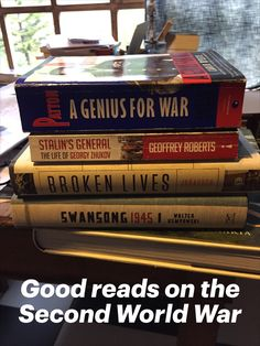 Four reviews on non fictions books about the Second World War. Two biographies on General Patton and Marshall Zhukov. Two reads about how the German civilians experienced the War. #secondworldwar #war #germany #patton #zhukov #nonfiction #warhistory #history #kempowski #geoffreyroberts # jaraausch #carlodeste Best Non Fiction Books, Fiction Stories, Best Biographies, Diary Book, Book Projects, History Books, Nonfiction Books, World War Two, Book Review