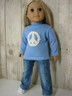 18 inch Doll Clothes American Girl Tee Distressed by nayasdesigns, $28.00