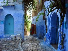 Blue doors and walls of Chefchaouen, Morocco Marrakesh, Casablanca, Islamic City, Atlas Mountains Morocco, Travel Sights, Blue City, Belle Villa, Adventure Travel, Places To See