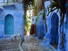 Blue doors and walls of Chefchaouen, Morocco Marrakesh, Casablanca, Islamic City, Atlas Mountains Morocco, Moroccan Art, Moroccan Style, Blue City, Belle Villa, Adventure Travel