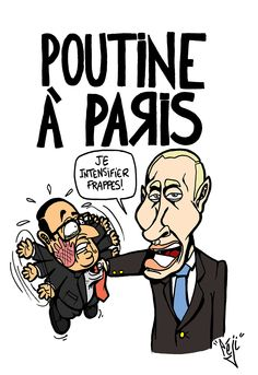 Péji - Caricature : Vladimir Poutine rencontre François Hollande