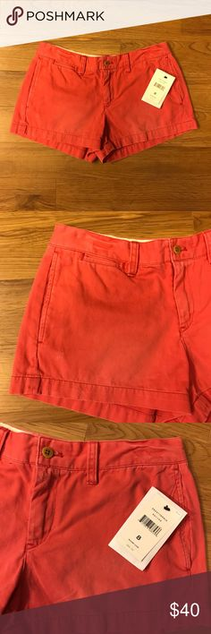NWT Size 8 Rugby Ralph Lauren Distressed Shorts NWT Size 8 Rugby Ralph Lauren distressed Nantucket red shorts. Rugby is a discontinued line of Ralph Lauren so these are one of a kind! Please feel free to ask questions Ralph Lauren RRL Shorts