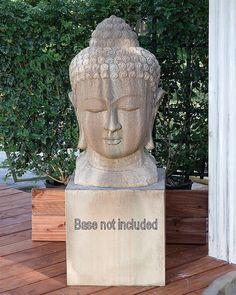 """Buddha Head Bust Sculpture 30"""" High"""