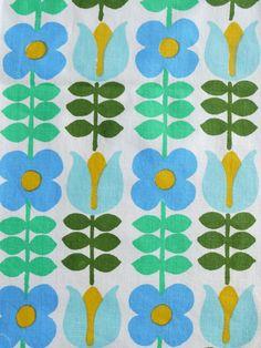 Vintage fabric via Lu Summers