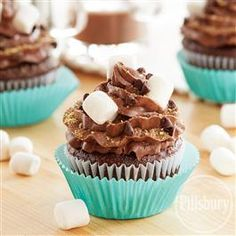 Peanut Butter S'more Cupcakes from Pillsbury® Baking