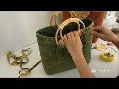 Crochet Bag Tutorials, Crochet Handbags, Crochet Fashion, Handmade Crafts, Crochet Stitches, Clutch Bag, Straw Bag, Make It Yourself, Purses