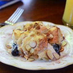 Blueberry Almond French Toast Bake by FromValeriesKitchen
