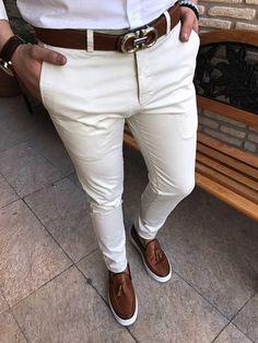 score.michail slim likralı keten kanvas erkek kot pantolon T1588