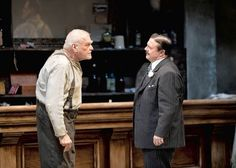 Brian Dennehy as Larry Slade and Nathan Lane as Theodore Hickman in Robert Falls& Goodman Theatre production of Eugene O& The Iceman Cometh in Goodman Theatre, The Iceman Cometh, Brian Dennehy, Eugene O'neill, Tony Award Winners, Academy Of Music, Theatre Reviews, Dramatic Arts, Broadway Plays