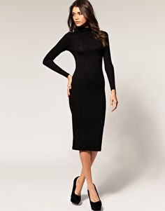 ASOS polo neck midi dress with long sleeves.  Would also love it in navy, grey, winter white...