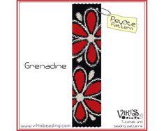 Peyote Bracelet Pattern Grenadine   by VikisBeadingPatterns, $6.50