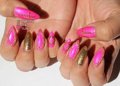 Next manicure I will try pointy shape nails.. Im still kind of if'ee about it..