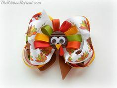 Thanksgiving Turkey Bow - {The Ribbon Retreat Blog}