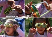 смешни очила от кори за яйца