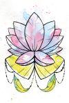Lotus watercolor flower