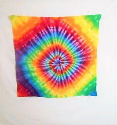 Rainbow Wall Hanging// Tie Dye Tapestry// Trippy Tapestry// 60s Tie Dye// Hippy wall art// Gay Pride Flag// Hippie art// Hippy tie dye// T by FarmFreshTieDyeStore on Etsy
