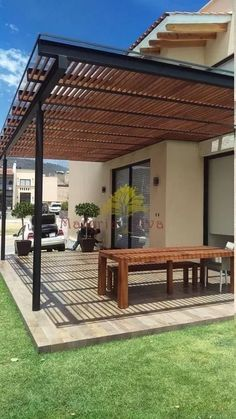 The wooden pergola is a good solution to add beauty to your garden. If you are not ready to spend thousands of dollars for building a cozy pergola then you may devise new strategies of trying out something different so that you can re Small Pergola, White Pergola, Modern Pergola, Pergola Swing, Pergola Attached To House, Deck With Pergola, Outdoor Pergola, Backyard Pergola, Pergola Shade