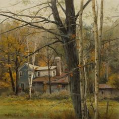 """House in the WoodsSouthwest Gallery Dimensions: 18"""" x 18""""  