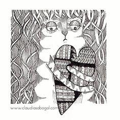 KARMA... #illustration #ilustra #heart #cats #love #lovercats #lineart #instagram #instagood #instaart #sketch #karma #art #artist #ilustradoreslatinoamericanos #bogotart #rapidograph #artoftheday #penart #drawing #bnw #ilustracion #gatos #creative #inspiration #instaartist #graphic #beautiful #tintachina #paper