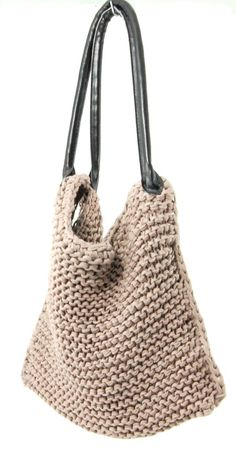 Perfect use for the #KnittersPride bag handles! http://www.jimmybeanswool.com/knitting/yarn/KnittersPride/FauxLeatherBagHandles.asp